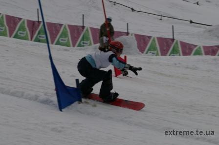 Останні метри сноубордистської траси долає Гречин Юлія