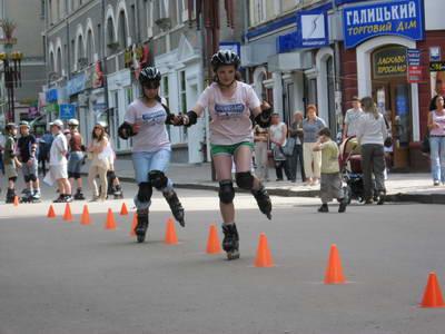Змагання ролеристів до дня захисту дітей