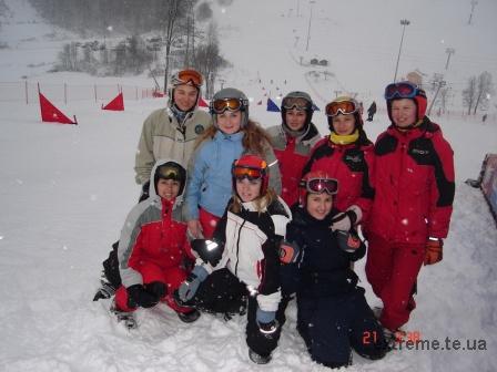 Жіноча збірна України з сноубордингу на трасі