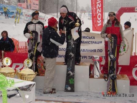 Наші спортсменки-сноубордистки вибороли призові місця: Тимош Світлана (срібло) та Гречин Галина (бронза)