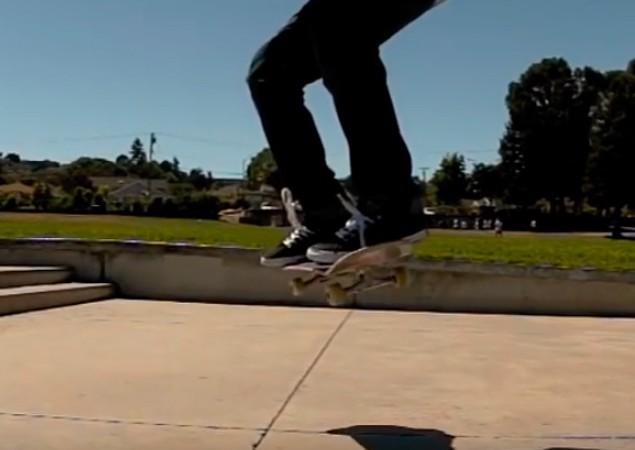 Backside 180 Ollie на скейтборді