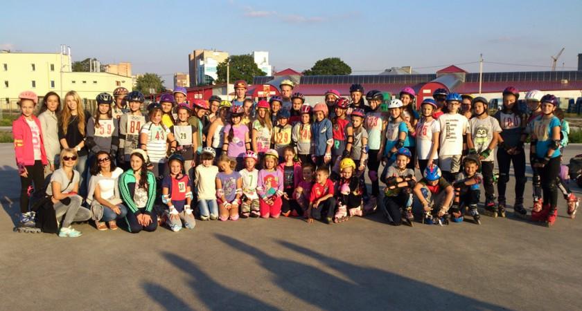 Змагання на роликах до Дня фізичної культури і спорту 2015