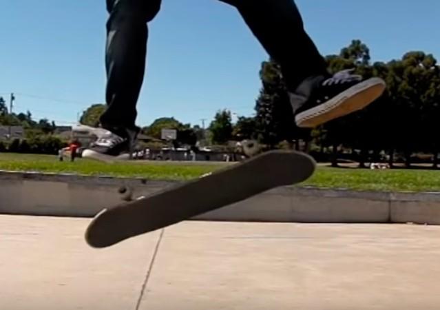 Трюк Heelflip на скейтборді