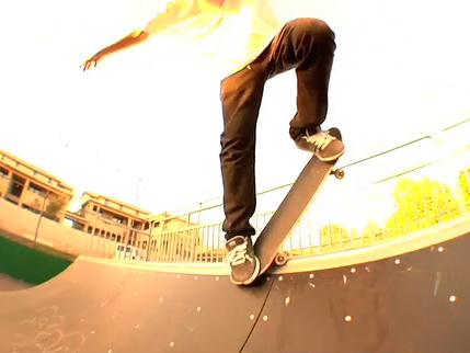 Виліт в рампі на скейтборді