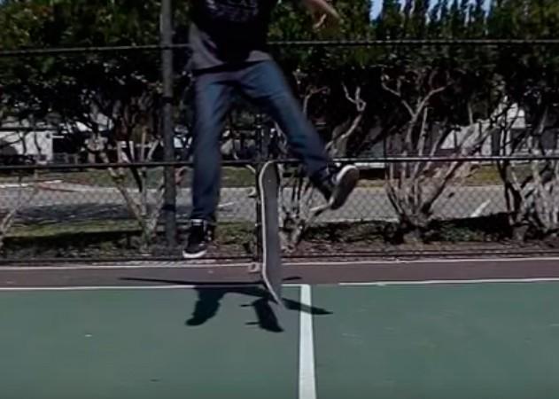 Трюк Varial Heelflip на скейтборді