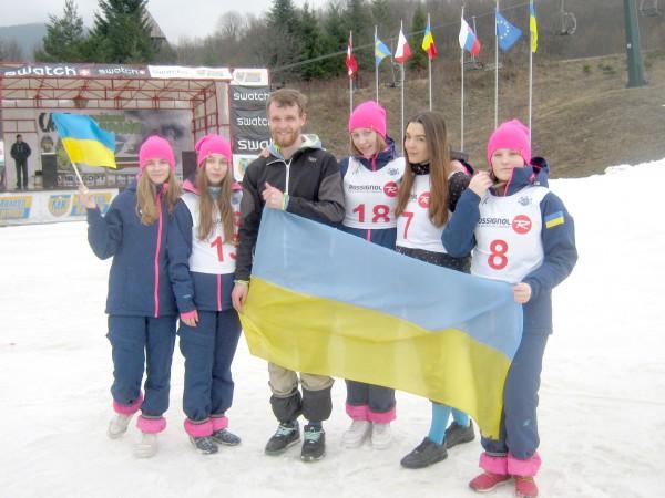 Команда Тернопільських сноубордистів - призерів Чемпіонатів України серед дорослих та юніорів з сноуборду
