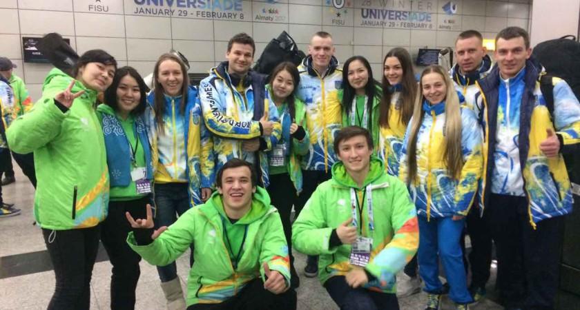 """Тернопільські """"Екстремали"""" на Всесвітній зимовій Універсіаді в Казахстані"""