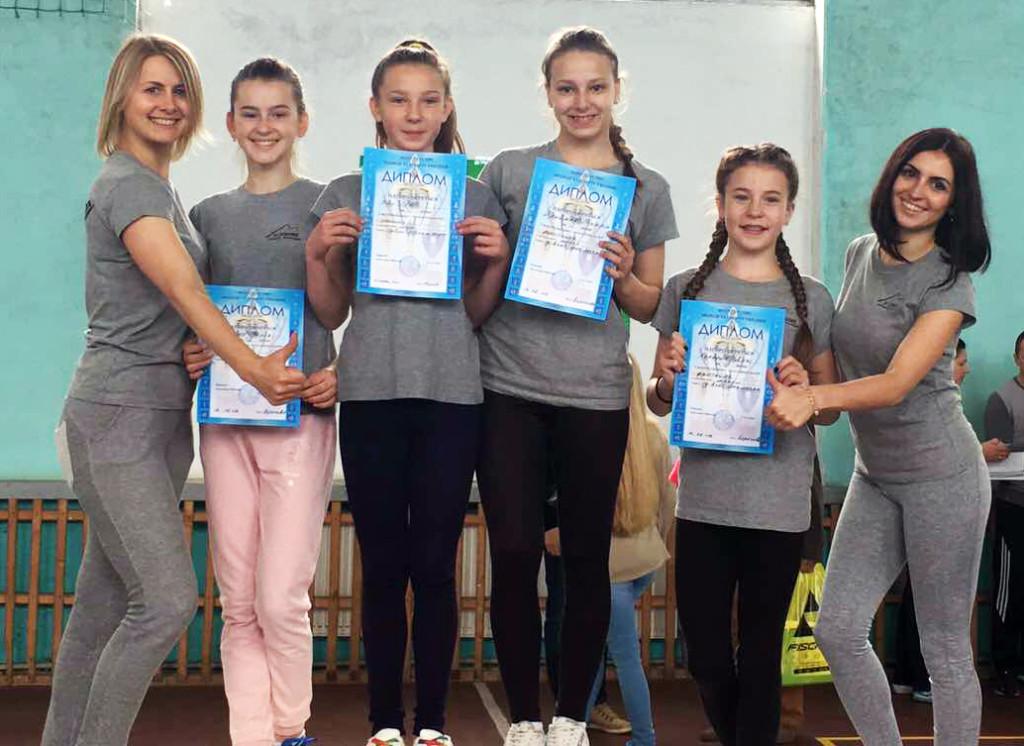 Дівчата-призерки Берегово