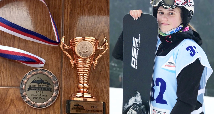 Тернопільська сноубордистка Вікторія Льотковська – бронзова призерка міжнародних  FIS-змагань в Чехії !
