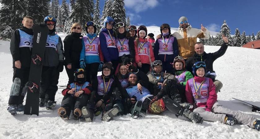 15 медалей  ІІ-го етапу Кубка України у Тернопільських  сноубордистів